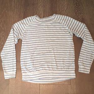 Marine Layer Tops - Marine Layer striped reversible sweatshirt